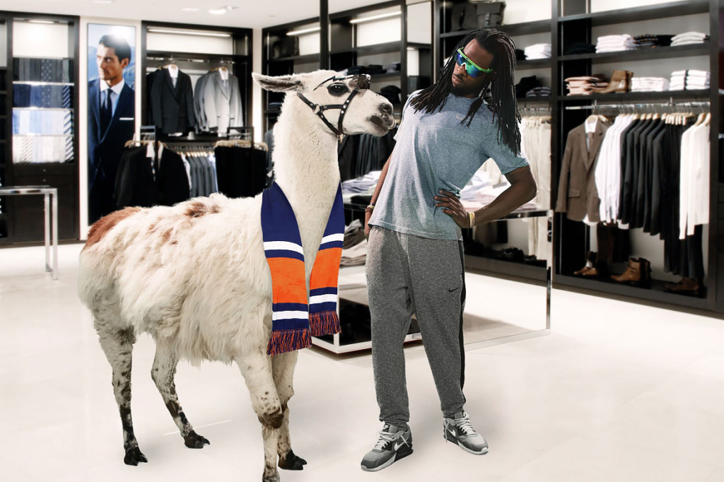 Richard Sherman Shopping with his best buddy