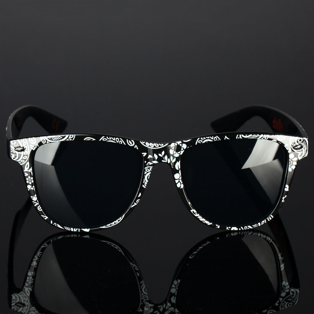 Product shot of the Paisley print daily shades from Neff