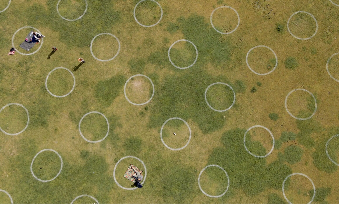 Dolores Park Circles from drone
